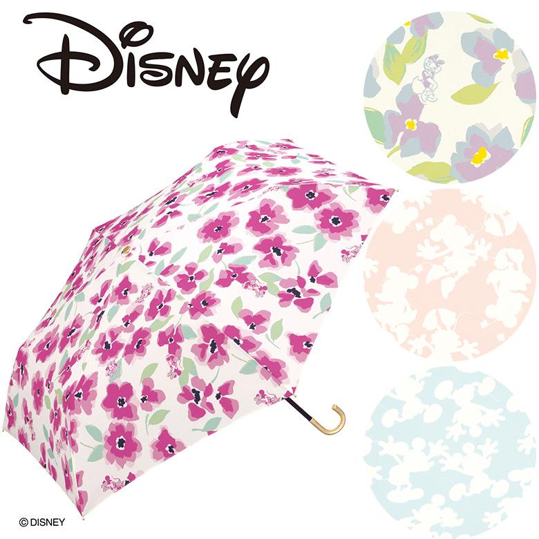 【Wpc】ディズニー 折り畳み傘 晴雨兼用 UVカット ミッキー&ミニー デイジーダック