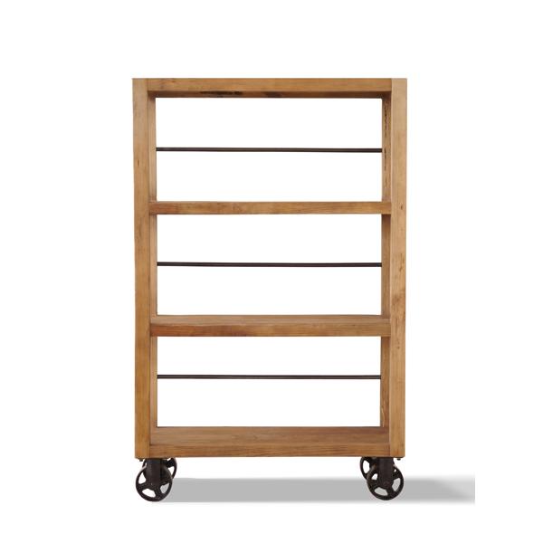 店舗に最適 古材のオープンラック アンティークなデザイン ナチュラル 幅90
