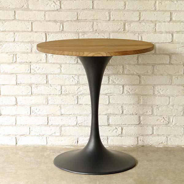 【送料無料】 アンティークなデザインのダイニングテーブル 幅70 ブラック