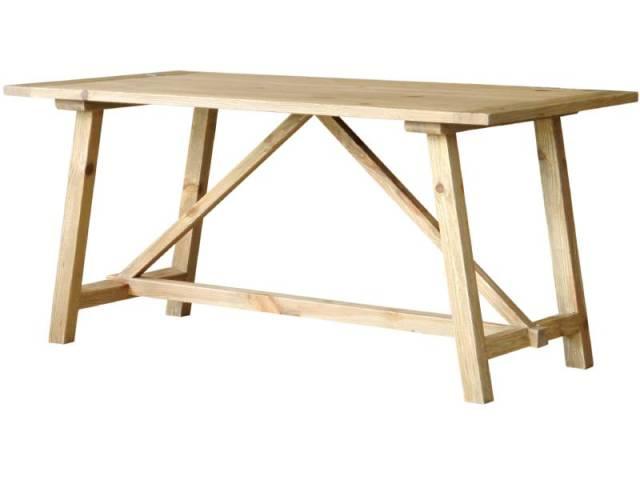 【送料無料】古材を使用したダイニングテーブル 幅160 ナチュラル