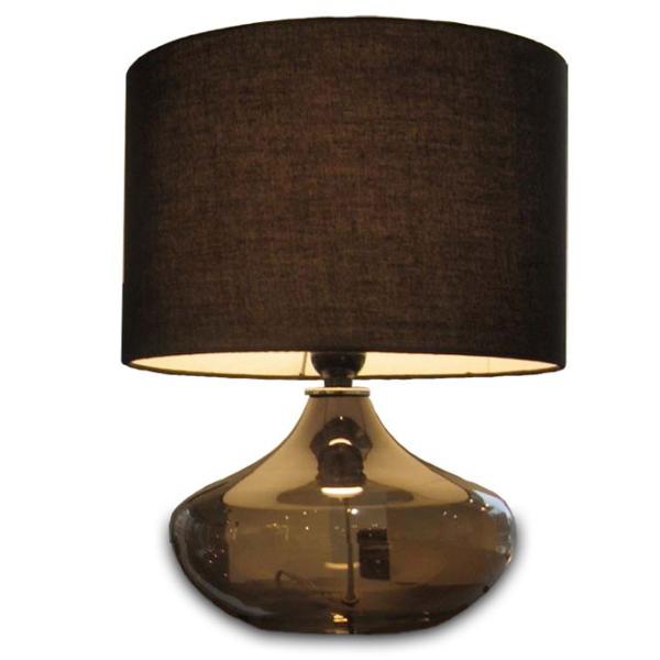 【送料無料】モダンなテーブルライト 電球のようなベースがオシャレな間接照明 ブラックとホワイト