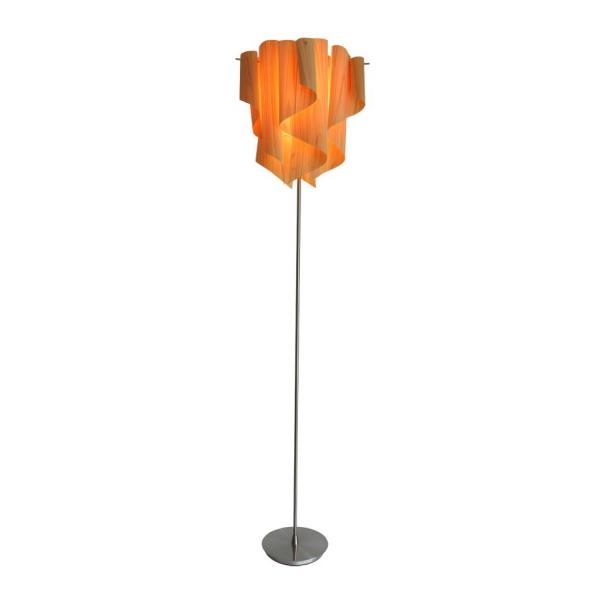 【送料無料】 ヒノキを使用した木製シェード グラデーションが美しいモダンなフロアスタンド照明