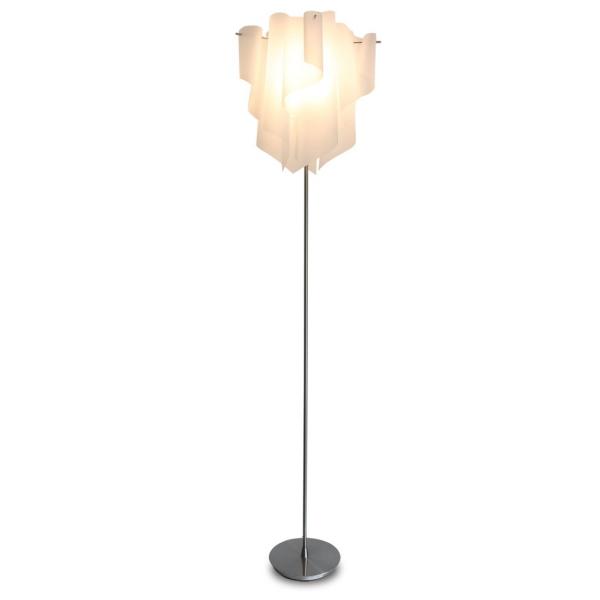 【送料無料】 モダンな波形シェードのデザインライト グラデーションが美しいフロアスタンド照明