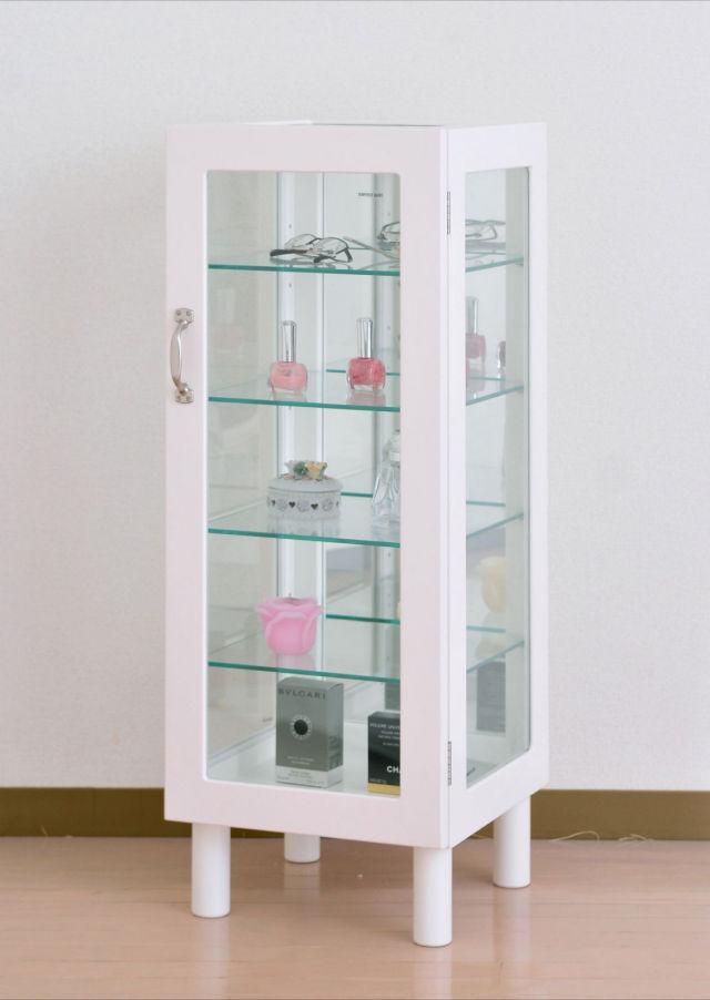 【送料無料】 人気!ディスプレイを引き立てるコレクションボックス トールタイプ ホワイト