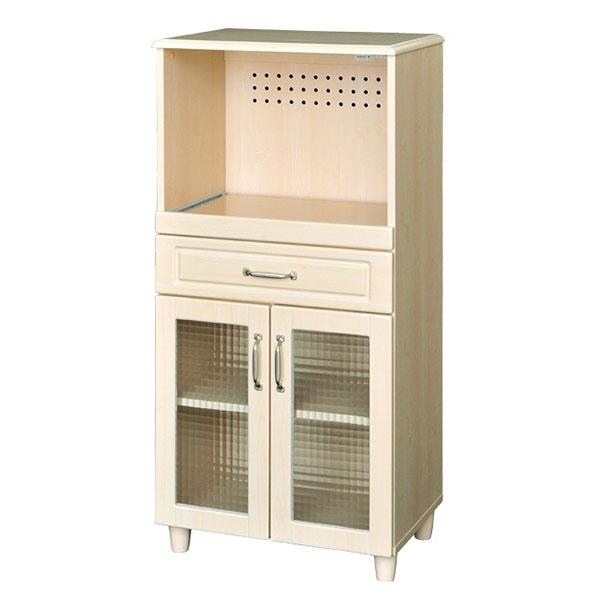 【送料無料】 北欧系 丸みのある優しいデザイン キッチン収納 レンジ台 幅60