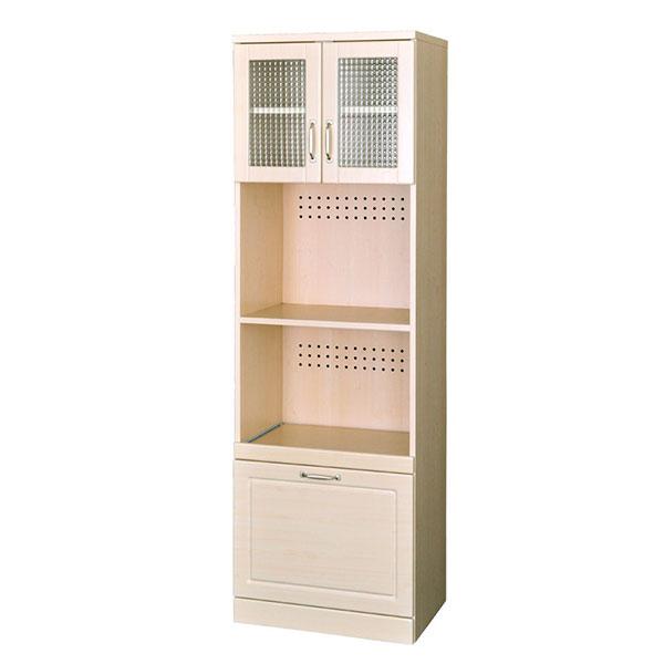 【送料無料】 北欧系 丸みのある優しいデザイン キッチン収納 レンジ台 高さ180