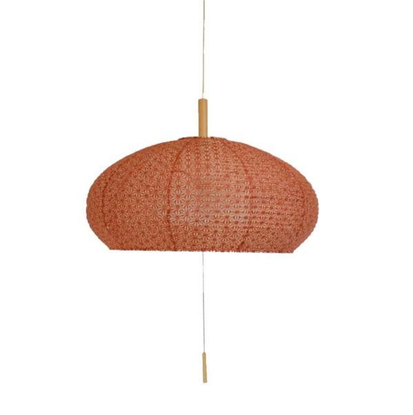 【送料無料】 和風デザイン照明 お椀型ペンダントライト カラータイプ煉瓦 広めの和室やダイニングにおすすめ