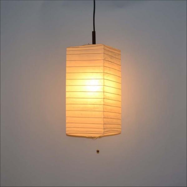 【送料無料】 天井照明 提灯 1灯角型ペンダントライト