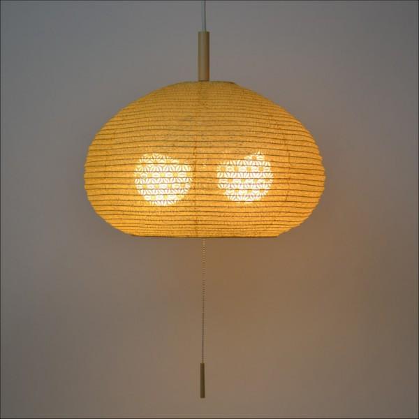 【送料無料】 天井照明 提灯 お椀型ペンダントライト 小ぶりながらボリューム感を感じさせるデザイン