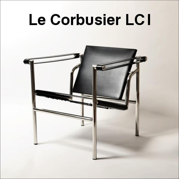 【送料無料】 コルビジェ (Le Corbusier) 【LC1】 リプロダクト デザイナーズ家具 スリングチェア Sling Chair 革/ポニースキン