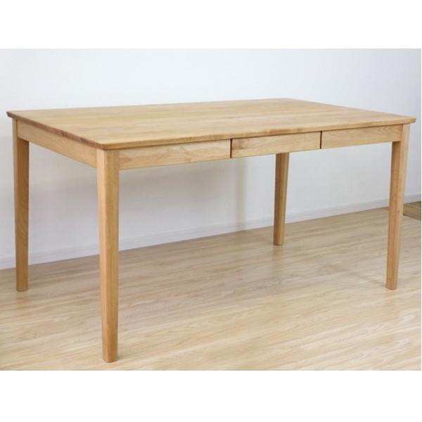 【送料無料】引き出し付き アルダー無垢材を使用したダイニングテーブル 幅135