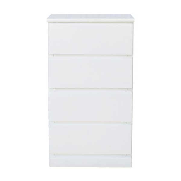 【送料無料】 光沢塗装 モダンなホワイトカラーのスリムチェスト 幅45cm 奥行30cm