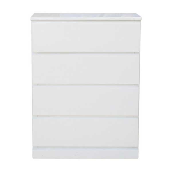 【送料無料】 光沢塗装 モダンなホワイトカラーのスリムチェスト 幅60cm 奥行30cm