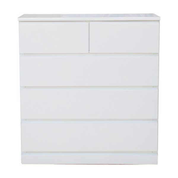 【送料無料】 光沢塗装 モダンなホワイトカラーのスリムチェスト 幅75cm 奥行30cm