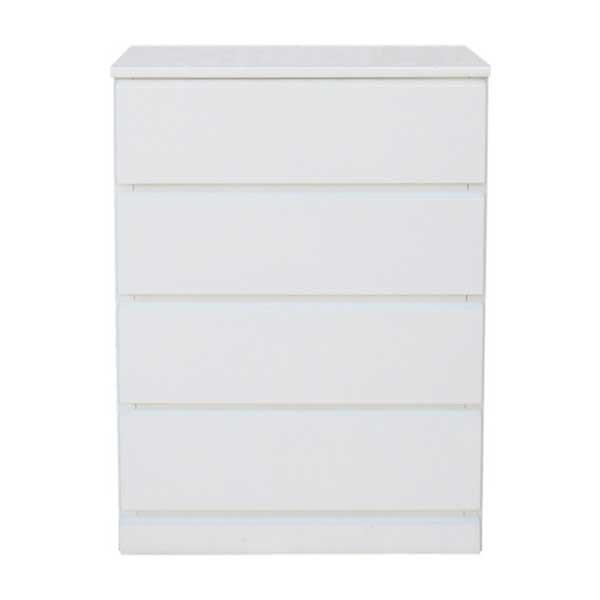 【送料無料】 光沢塗装 モダンなホワイトカラーのリビングチェスト 幅60cm 奥行45cm