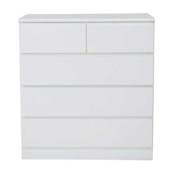 【送料無料】 光沢塗装 モダンなホワイトカラーのリビングチェスト 幅75cm 奥行45cm