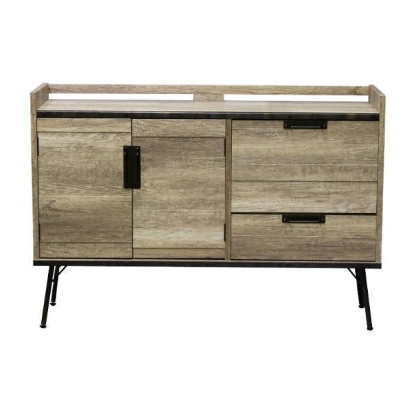 【送料無料】  インダストリアルデザイン 古材とスチールの組み合わせがかっこいい収納家具 サイドボード 幅130
