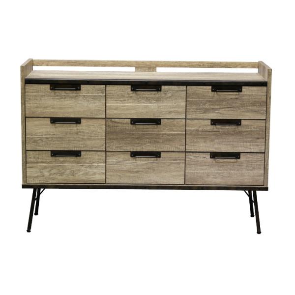 【送料無料】 インダストリアルデザイン 古材とスチールの組み合わせがかっこいい収納家具 リビング収納 幅130