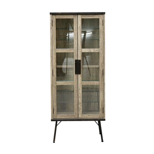 【送料無料】 インダストリアルデザイン 古材とスチールの組み合わせがかっこいい収納家具 コレクションキャビネット 幅60