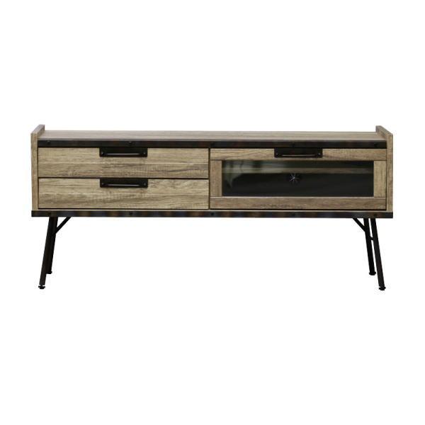 【送料無料】インダストリアルデザイン 古材とスチールの組み合わせがかっこいい収納家具 テレビ台 幅120