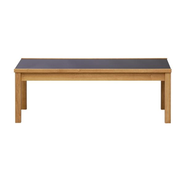 【送料無料】 ブラックの強化ガラス天板のモダンなデザインのリビングテーブル ミディアムブラウン 幅110