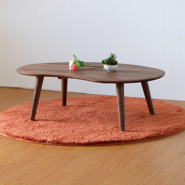 【送料無料】北欧のかわいいセンターテーブル ウォールナット 幅100
