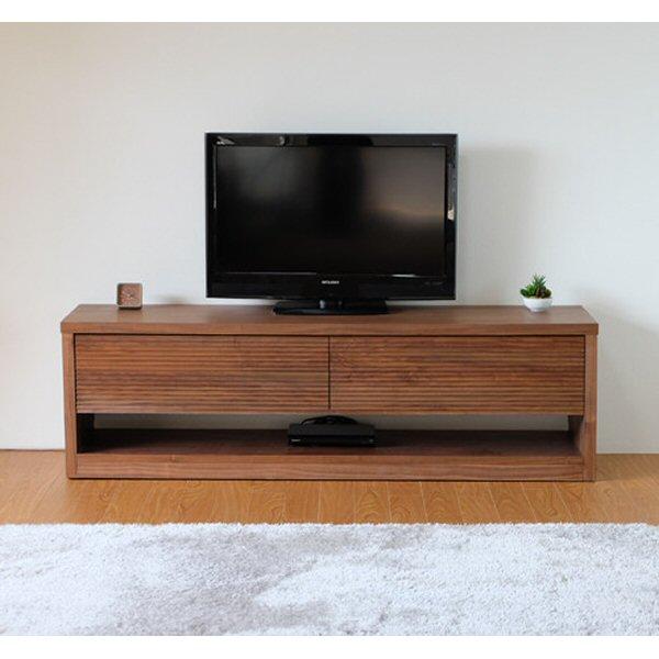【送料無料】ウォルナット無垢のテレビ台 幅160 キャスター付き