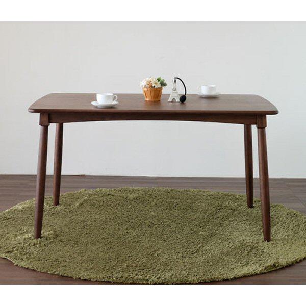 【送料無料】ウィンザー調のダイニングテーブル 幅130cm ウォールナット無垢のブラウンカラー