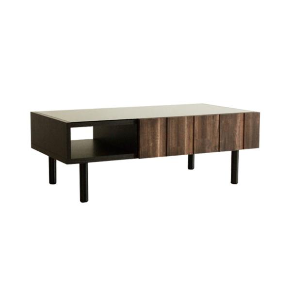 【送料無料】古木風のおしゃれなデザイン ビンデージ感のあるセンターテーブル モダン ブラウン 105