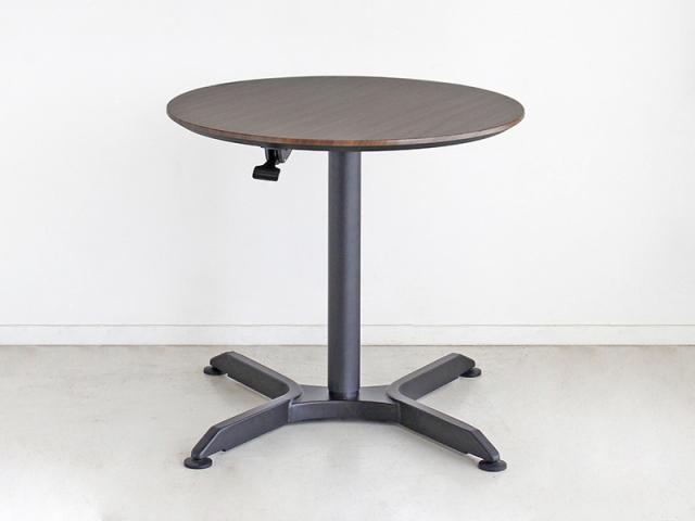 【送料無料】モダン 昇降カフェテーブル 幅80 ブラウン