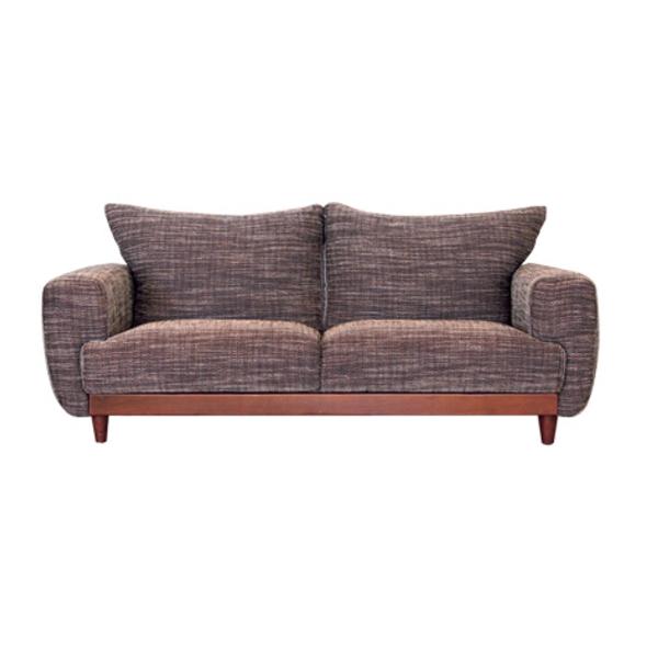 【送料無料】カフェ風2.5人掛けソファ 座り心地の良いファブリック生地 グレー