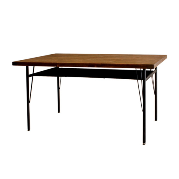 【送料無料】カフェ風ダイニングテーブル 木とスチールの人気シリーズ 幅140