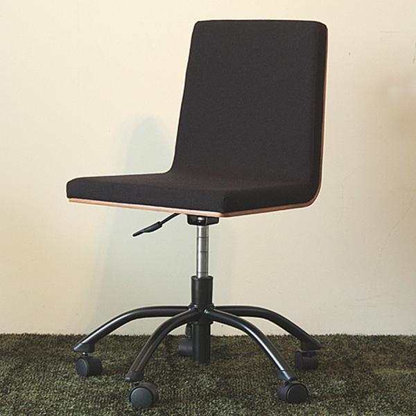【送料無料】ウォールナットと黒の組み合わせがおしゃれでシックなオフィスチェア モダン ブラウン