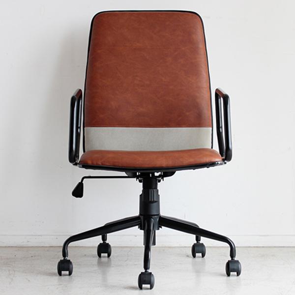 【送料無料】レトロな雰囲気のおしゃれなオフィスチェア モダン ブラウン