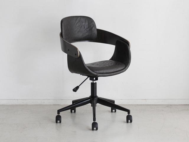 【送料無料】インダストリアル オフィスチェア BL ブラック