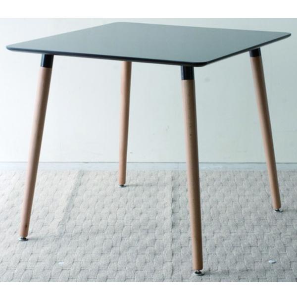 【送料無料】 デザイナーズ風 スクエアダイニングテーブル 幅80 ブラック ホワイト ナチュラル