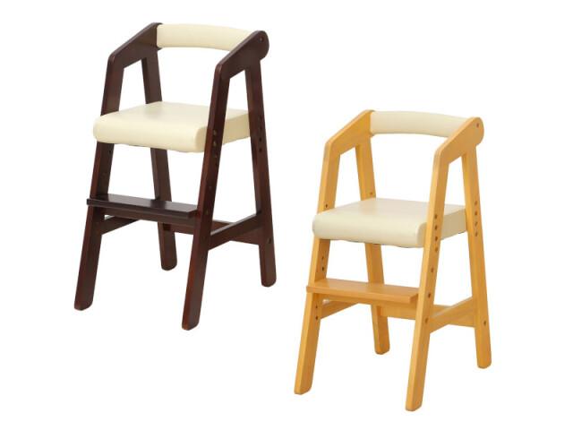デザイン家具ドットコム   高級デザイナーズ家具のオンラインショップ【送料無料】 子供の成長に合わせて座面高さを変えれる キッズ用ハイチェア ダークブラウンとナチュラル