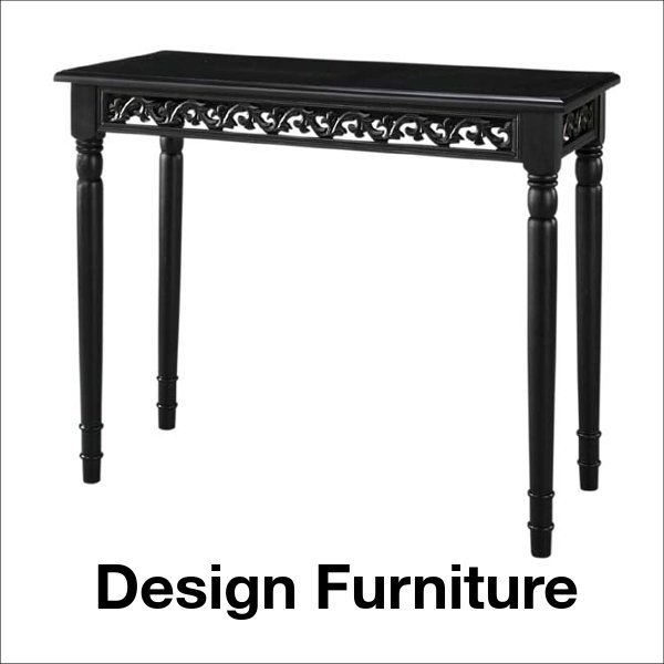 エレガントな雰囲気のコンソールテーブル ブラック