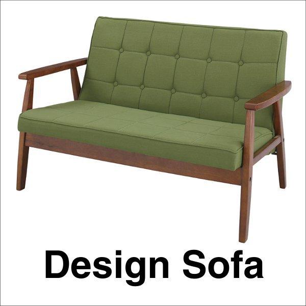 【送料無料】 カフェのようなインテリア レトロなデザインの木枠ソファ