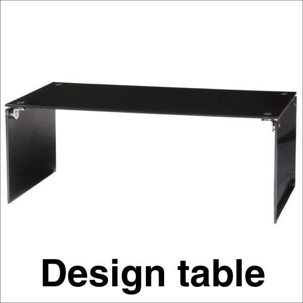 【送料無料】 スタイリッシュなデザインのガラスセンターテーブル ブラック 幅100