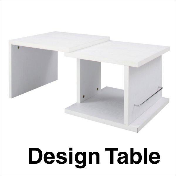 【送料無料】 シンプルなデザイン スライドテーブル ローテーブル ホワイト