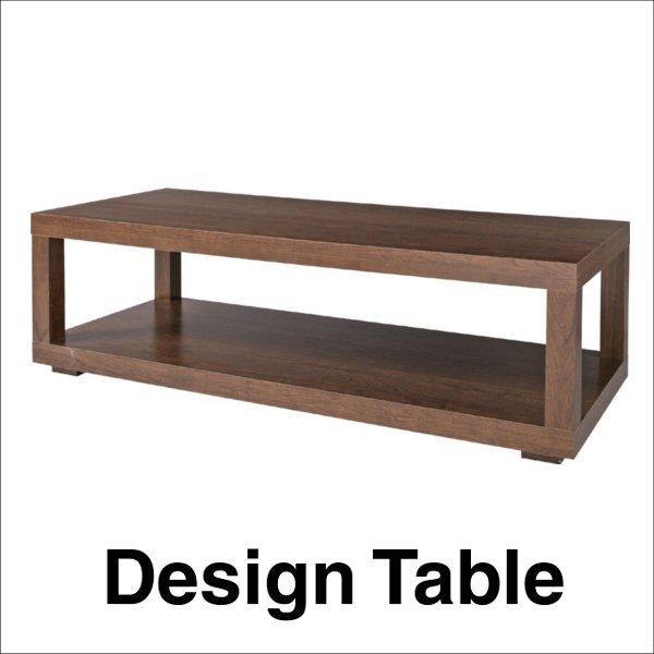 【送料無料】 モダンなデザインの木製センターテーブル ブラウン ロングタイプ