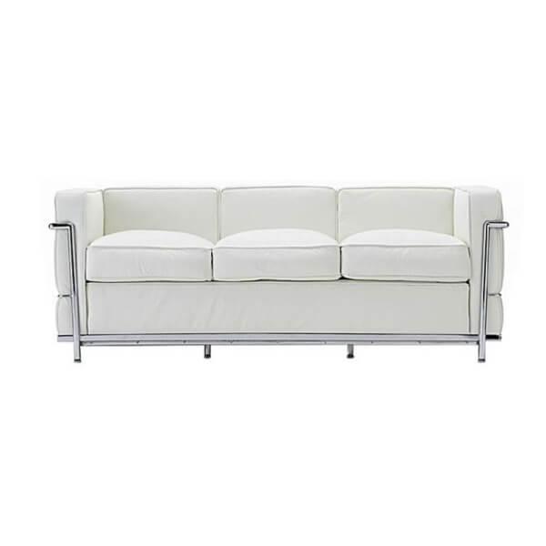 【送料無料】コルビジェ ソファ(Le Corbusier)【LC2】 リプロダクトデザイナーズ家具 3人掛け ホワイト