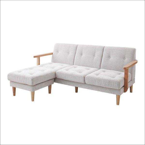 【送料無料】 日本の住宅に最適 コンパクトなサイズの木枠カウチソファ