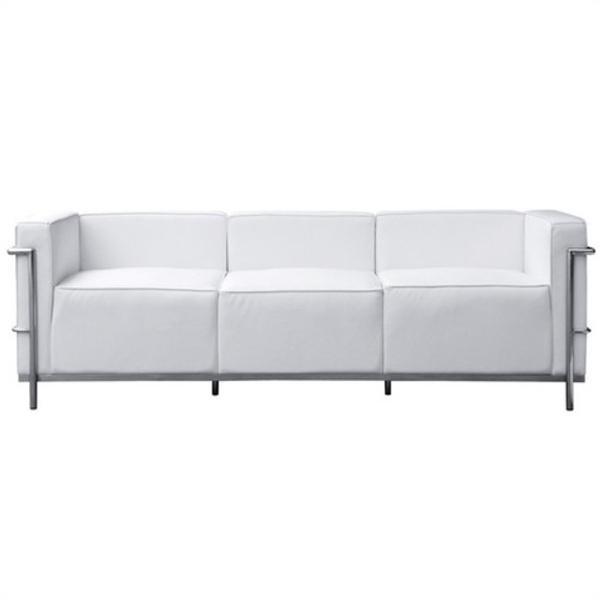 【送料無料】 コルビジェ ソファ (Le Corbusier)【LC3】 リプロダクト デザイナーズ家具 3人掛け ホワイト