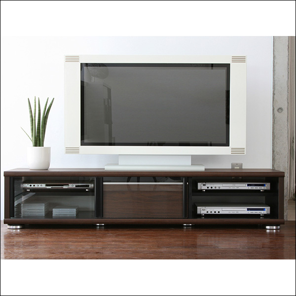 【送料無料】 完成品 日本製シンプルなデザインのテレビ台 160 ナチュラルとブラウン 12畳リビング