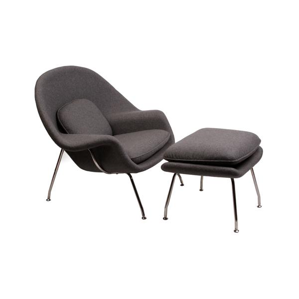 エーロ・アールニオ ウームチェア+オットマン (デザイナーズ家具)