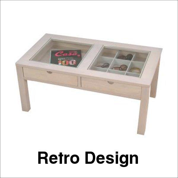 【送料無料】 おしゃれなデザインのコレクションテーブル ホワイト