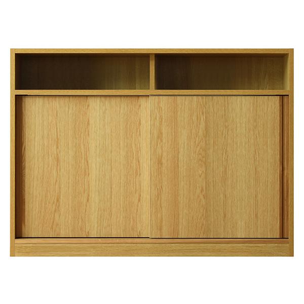 店舗でも使えるカウンター収納 スライド扉部分 北欧ナチュラル 幅120
