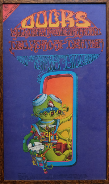 The Doors Poster by Rick Griffin 1967